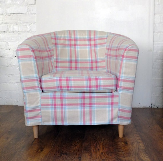 Slip Cover For The Ikea Ektorp Tullsta Tub Chair Sorbet Tartan