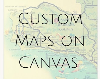 Custom Maps of Cities, New Home Gifts, Custom Maps on Canvas, 24x36, City Maps Canvas, Industrial Decor Style, Industrial Home Decor Vintage