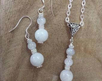 Moonstone & Earring Set, Protection, Traveler Stone, June Birthstone