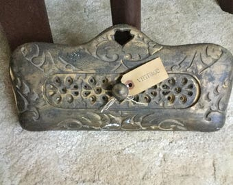 Ornate Victorian Iron Fireplace/Furnace Grate/Cover/Door-Repurpose/Restore