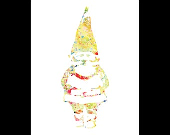 Watercolor Gnome Print