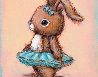 Ballet Bunny: Art print with Poetry