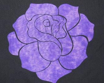 Elegant Rose Quilting Applique Pattern Design