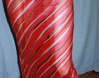 New Vintage COLLETTE DINNIGAN maxi skirt M red/pink tones