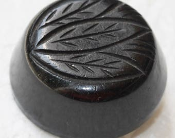 Black Bakelite Button