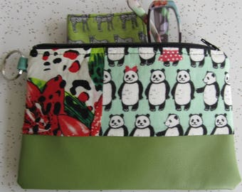 SALE!!! Vegan Leather Clutch - Panda Bear Handbag - Panda Bear Gift
