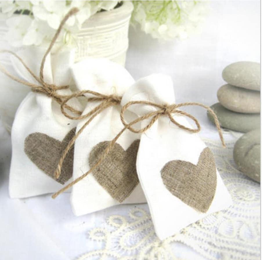 JUTE HESSIAN bags - wedding favor small jute gift bag 9cmx14cm ...