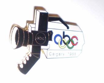 Olympics Pin ABC Camera Calgary 1988 Olympics Pin