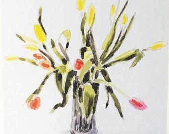 Tulips - Handmade Card