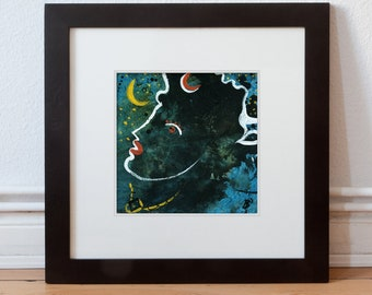 Picture abstract 15/15 cm Original portrait