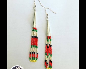Sterling Silver Seed Bead Earrings