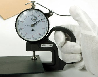 Measure Dial Thickness Gauge Leather 0 to 10mm 0.1mm/0.01mm Precision Jewelry Leathercraft Craft Tools