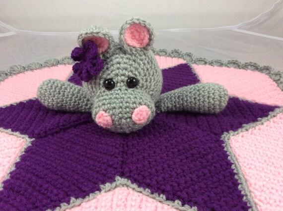 Free Amigurumi Hippo Pattern : Hippo lovey security blanket instant download pdf crochet