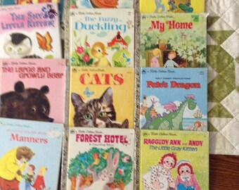 Golden Books 1970's collection of 12