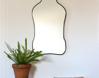 Oval Mirror Handmade Wall Mirror Wall Mirror Miroir Oblong Sculpted Organic Curved Curvy Scalloped