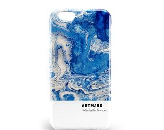 Blue abstract shell. PVC. iPhone 4, 4s, 5, 5s, SE, 5 c, 6, 6, 6 Plus 6s Plus, 7 and 7 more, illustration, design, paint, brush, artmars art