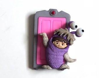 Boo Pin, Boo Badge, Boo Tie tack, Boo Brooch, Monsters Inc., Boo in Costume, Boo with Door, Little Girl, Backpack Buddy, Mike and Sully