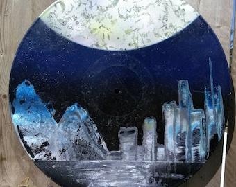 Vinyl Record Album Spray Painting Art 02