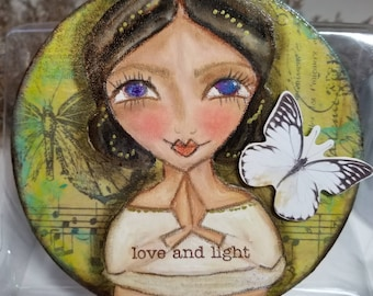 Love and Light mixed media ORIGINAL art.