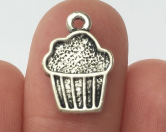 14 Cake Charms Antique Silver - SC419
