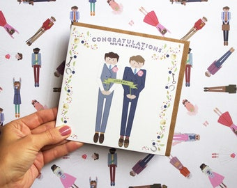 Mr and Mr Wedding Day Card | Letterpress Printed | Male Couple | Wedding Card | Congratulations | Mr and Mr Card | Wedding Day Card