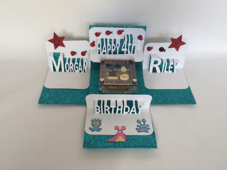 Twins happy birthday explosion box gift card wmusic box zoom kristyandbryce Gallery