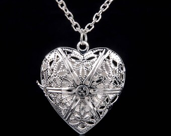 925 Silver Plated Heart Shaped Locket