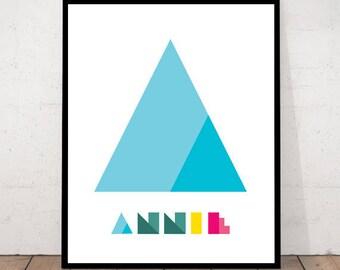 Nursery Print,  Nursery Home Decor, Nursery Wall Art, Custom Design, Custom Nursery, Name Decor, Name Printable, Nursery Custom Art, Custom