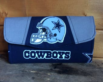 Necessary clutch wallet/NCW/Clutch/ accordion wallet/ womans wallet/Dallas cowboys/football/ gift/ handmade