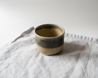 Handmade pottery tumbler drinking mug