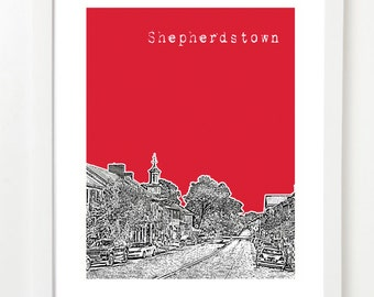 Shepherdstown West Virginia Poster - Shepherdstown WV City Art  - West Virginia Gifts