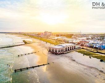Ocean City Music Pier (beach, art, ocean city, new jersey, aerial, sunset)