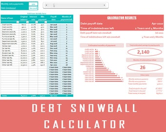 Debt Snowball | Debt Calculator | Dave Ramsey | Debt Spreadsheet | Debt Tracker | Debt Payoff | Debt Calculator | Debt Planner | Easy Debt