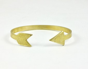 brass arrow BRACELET cuff jewelry (S207)