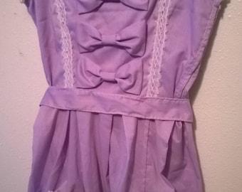 Purple Tea Party Lolita Dress - Handmade - Size M