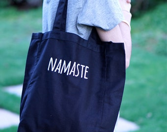 Namaste Bag - STITCHED TOTE - Yoga Tote Bag - Yoga bag - Yoga Tote - Namaste Yoga Bag - Tote Bag - Yoga Products - Yoga Accessories - Yoga