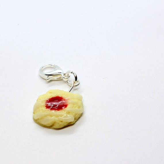 Strawberry Thumbprint Cookie - Stitch Marker - Progress Keeper - Zipper Pull - Planner Charm - READY TO SHIP