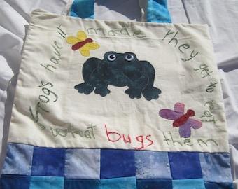 Frog Shopping Bag/ Library Bag