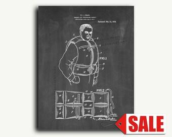 Patent Art - Marine Life-preserving Jacket Patent Wall Art Print