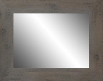 30x36  Weathered Gray Mirror