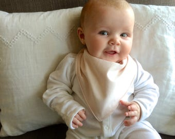 Bandana Bib | Petal Pink Baby Bib | Minimal Baby | Baby Girl Baby Boy | Drool Bib | Kerchief Bib | Pale Pink | Pastel Pink