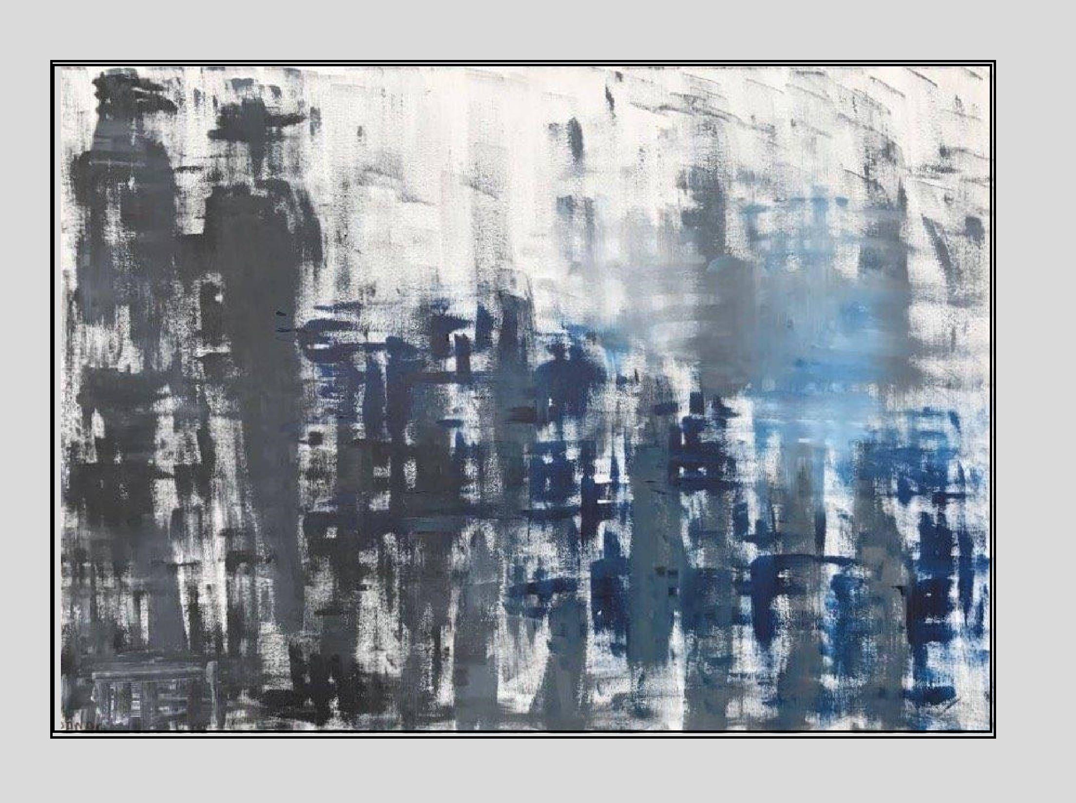 Bildende Kunst Malerei Wohnkultur große abstrakte Malerei