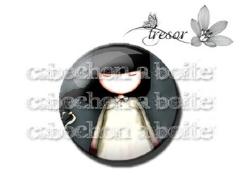 PA163 glasses, Retro girl children manual cabochons