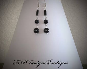 Nice! Dangle Black Onyx Earrings