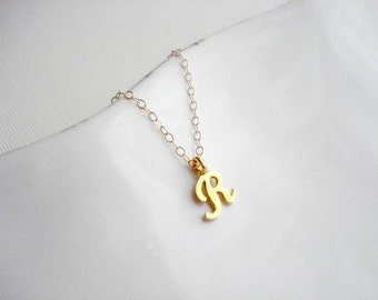Gold Single Initial Personalized Necklace Monogram Letter Jewelry Custom Wedding Jewelry Gift For Her