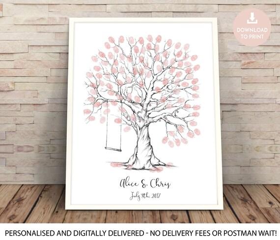 fingerprint tree wedding tree finger print tree guest book