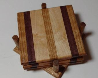 custom wooden coaster set