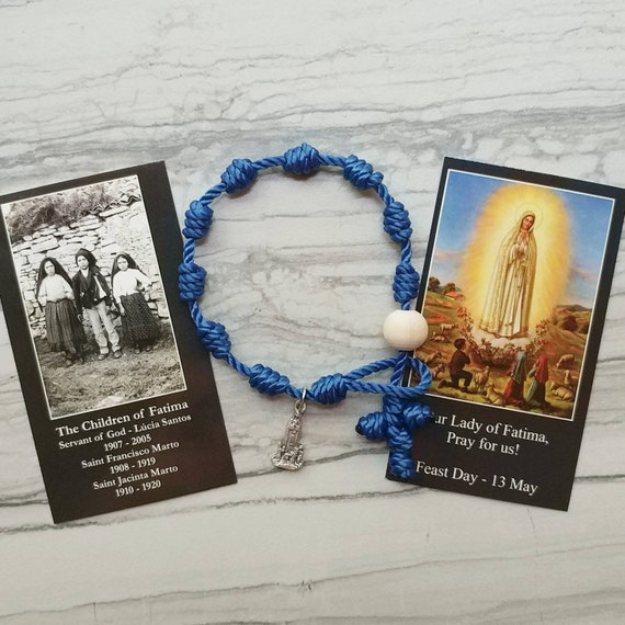 Our Lady of Fatima Rosary Bracelet - with charm