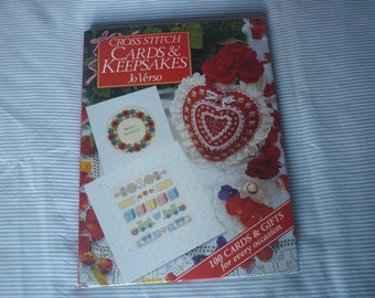 cross stitch cards and keepsakes book