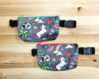 Unicorn Bliss Mini Fanny Pack, Micro Fanny Pack